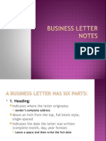 business letter notes ppt