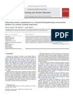 Teacher Competencies in a Virtual Teachinglearning Environment - Guasch, Alvarez, Espasa