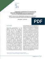 Aponte & Cama 2013 Estrategias de conservacion para Astrocaryum perangustatum