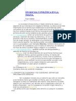 Organización Social y Política en La Sociedad Romana