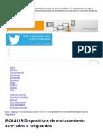 ISO14119 Dispositivos de Enclavamiento Asociados a Resguardos - InfoPLC