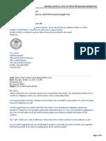 Marks Correspondence With  Pueblo DA 2013