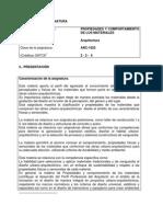 O ARQU-2010-204 Propiedades y Comportamiento de Los Materiales