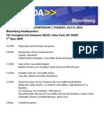 7.8.14 Bloomberg Symposium Agenda