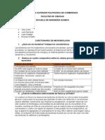 Cuestionario de Morfologia Bacteriana
