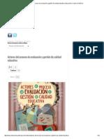 Actores Del Proceso de Evaluación y Gestión de Calidad Educativa _ Educación y Cultura en México