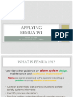 Tues 9.20 Applying EEMUA 191 Peter Damer