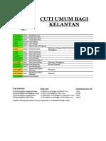 Cuti Umum Bagi Kelantan