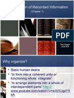 Organization of Recorded Information