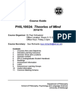 Theories of Mind Course Guide 14-15