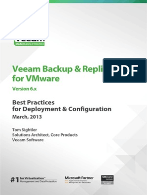 Veeam Backup And Replication Best Practices Deploy And