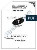 Microprocessor LAB MANUAL Reg-2013