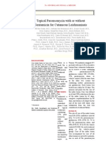 Topical Paromomycin With or Without Gentamicin for Cutaneous Leishmaniasis