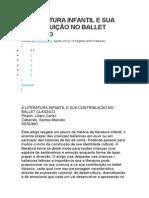 A Literatura Infantil e Sua Contribuição No Ballet Classico