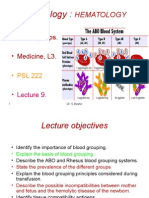 Lec 9-10 Blood Groups & Transfusion