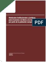 Obstáculos Institucionales y Jurídicos Para El Acceso a La Tierra y Su Regularización Por Parte de La Población Campesina