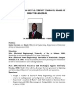 TANZANIA ELECTRIC SUPPLY COMPANY (TANESCO), BOARD OF DIRECTORS PROFILES