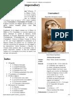 Constantino I (Emperador) - Wikipedia, La Enciclopedia Libre