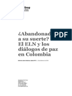 Left in the Cold the Eln and Colombia s Peace Talks Spanish