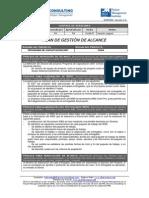 Plan de Gestion Del Alcance - PLANTILLA