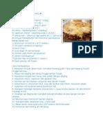 Resepi Roti Daging Berkeju