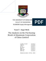 The Analysis on the Purchasing Model of Aluminum Corporation of China Limited