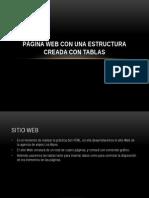 Página Web Con Una Estructura Creada Con Tablas