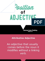 Position of Adjective