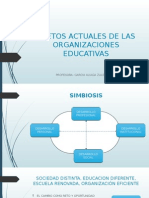RETOS ACTUALES DE LAS ORGANIZACIONES EDUCATIVAS