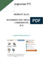 Langkah Membuat Blogspot