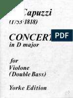 Capuzzi - Concerto for Double Bass (Bucarella) - Db Pf in D