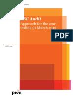 BSC Audit Approach Year Ending 31 March 2013 Public Version Final, A2