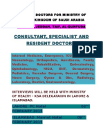 Doctors for Ministry of Health - Ksa (February 2015) Lhr-Isb