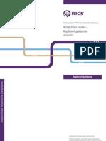 RICS APC Adaptation Route Applicant Guidance
