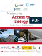 Maximizing Access Energy Poor Developing Asia