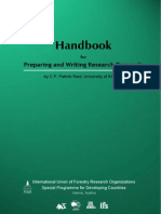 Handbook for Preparing and Writing Research Proposal by C.P Patrick Ried, Uni of Arizona