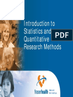 Introduction to Statistics and Quantitative Research Methods