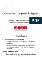 Handling Customer Complaints ROLEPLAY