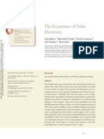 The economics of solar electricity