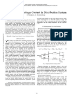 Technique for Voltage Control in Distribution System