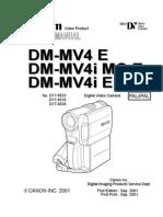 Canon MV4 Mini DV Camcorder Service Manual
