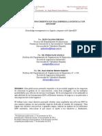 Gestion Del Conocimiento Empresa de Logistica OpenERP