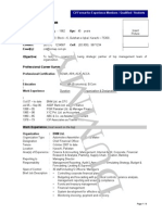 Dummy Experience CV