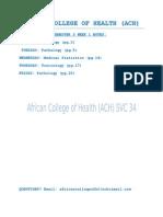 ACH's B.PHARM YEAR 2 SEMESTER 3 WEEK 1 NOTES