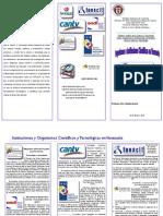 Triptico Organismos e Instituciones Científicas y Tecnológicas en Venezuela