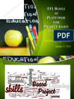 EFL Blogs as Platforms for PBI, Assignment 13