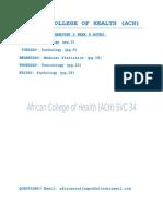ACH's B.PHARM YEAR 2 SEMESTER 3 WEEK 8 NOTES