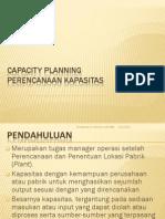 Capacity Planning Perencanaan Kapasitas