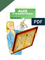 Caroline Quine Alice Roy 82 BV Alice et les quatre tableaux 1996.doc