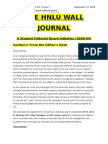 The HNLU Wall Journal-Vol I Issue 1